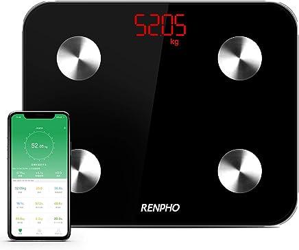 RENPHO 体重計 体組成計 USB充電 Bluetooth 体重計 BMI/体脂肪率/筋肉量など スマホに同期 iPhone/Android 日本語対応 アプリ ヘルスケア連動 スマートスケール (ブラック)