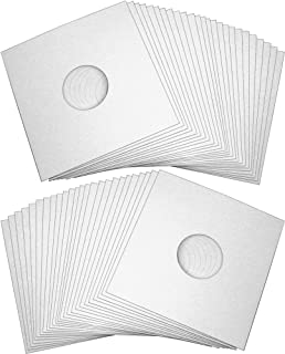 "50 12"" Record Jackets - White (Glossy Finish) - With Hole - #12JWWHHH - Protect Against Dust and Wear!"