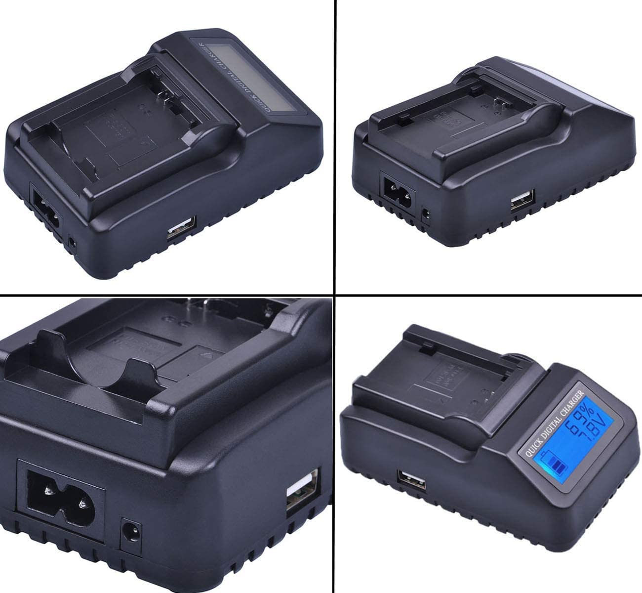 GZ-MG335 GZ-MG275 LCD Quick Battery Charger for JVC Everio GZ-MG255 GZ-MG365 Camcorder