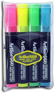 Artline EK-660/4W Fluorescent,4 Colours, (Pack of 4)