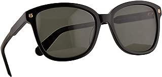 Salvatore Ferragamo SF815S Sunglasses Black w/Green Lens 56mm 001 SF 815S