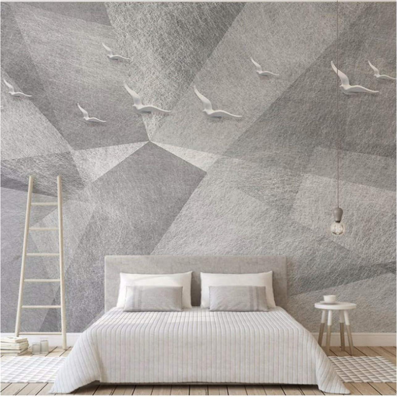 記念ピアノ巡礼者Weaeo 寝室の壁画壁画ムーミングレイエレガントな白いピジョン飛ぶ美しい壁紙??サングラス??壁画-450X300Cm