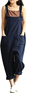 Women's Casual Jumpsuits Overalls Baggy Bib Pants Plus Size Wide Leg Rompers
