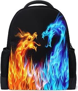 Dragon Fire Casual Backpack Waterproof Travel Daypack Children School Bag