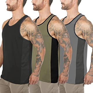 COOFANDY Mens Workout Tank Tops 3 Pack Quick Dry Gym Muscle Tee Fitness Bodybuilding Training Sports Sleeveless T Shirt