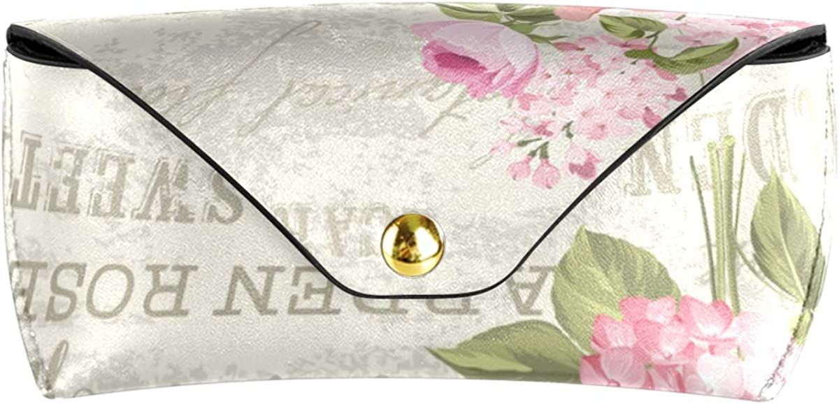 Sunglasses Case Eyeglasses Pouch Goggles Bag present Multiuse PU Leather Flower Garland For Invitation Card Portable