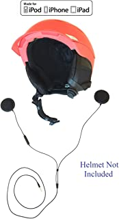 KOKKIA iGear : Sports/Motorcycle Helmet Earphones with Remote Control and Microphone, Compatible with Apple iPod, iPhone, iPad, Mac, Through 3.5mm Port.