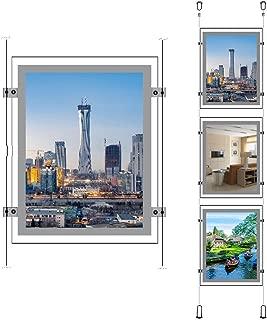 A4 Portrait Real Estate Window Advertising Display Ceiling Hanging Led Backlit Crystal Frame Sign Holder(3pcs a Column)