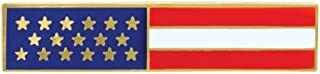 Police Officer Firefighter USA US American Flag Unifom Medal Pin Bar GOLD