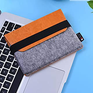 MACACCESSORIES, PU Leather Protective Storage Case Shell Bag Pouch Soft Sleeve Compatible for Apple Magic Trackpad(Orange)...