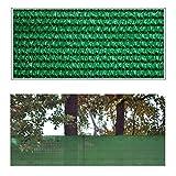 Helo 'J5' Sichtschutznetz Zaunblende 5 m Länge x 1,5 m Höhe (grün) aus HDPE Gewebe, hoch reißest, witterungs- und UV-beständig, ideal als Sichtschutz, Windschutz, Staubschutz oder Sonnenschutz Netz