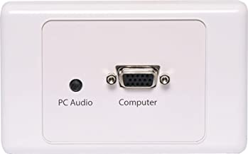 VGA + 3.5mm Wallplate Dual Cover - Screw Connections