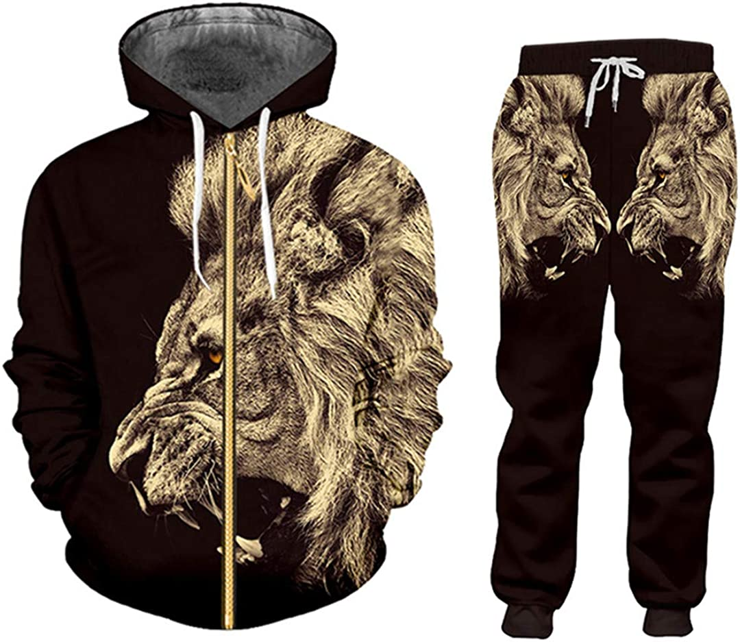 Unisex 5 popular Casual Tracksuit Hoodie Pants Printing An Jacket cheap 3D Loose