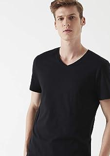 V Yaka Siyah Tişört