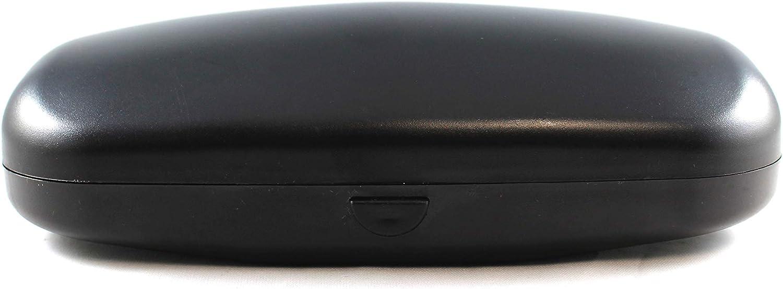 Medium Black Hard Plastic Push Button Eyewear Case, Sturdy Case for Eyeglasses, Sunglasses suitable for Men and Women