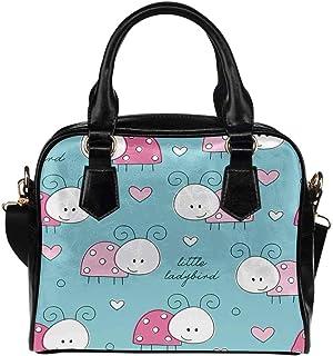INTERESTPRINT Ladybird Pattern Crossbody Purse Bags for Women Shoulder Bag