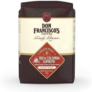 Don Francisco's 100% Colombia Supremo, Medium Roast, Whole Bean Coffee, 28 oz. bag