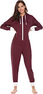 Family Pajamas Hooded One Piece Coupe Pajamas Onesie Jumpsuit Adult for Men Non Footed Women Pajamas Sleepwear S-XXL