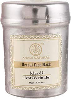Khadi Ayurvedic Anti Wrinkle Face Mask - 50g, Anti-ageing, Reduces Wrinkles, Fine Lines, Age Spots, Blemishes, Makes Skin Youthful, For Normal Skin, Dry Skin, Oily Skin, For Women & Men