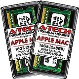 A-Tech 16GB Kit (2x8GB) DDR3 1333MHz RAM for Apple MacBook Pro (Early/Late 2011), iMac (Mid 2010 27', Mid 2011 21.5'/27'), Mac Mini (Mid 2011) | PC3-10600 SODIMM 204-Pin Memory Upgrade