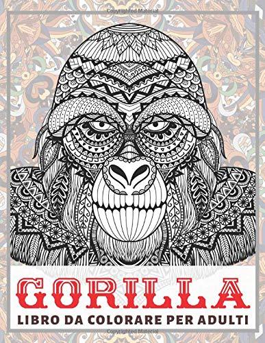 Gorilla - Libro da colorare per adulti