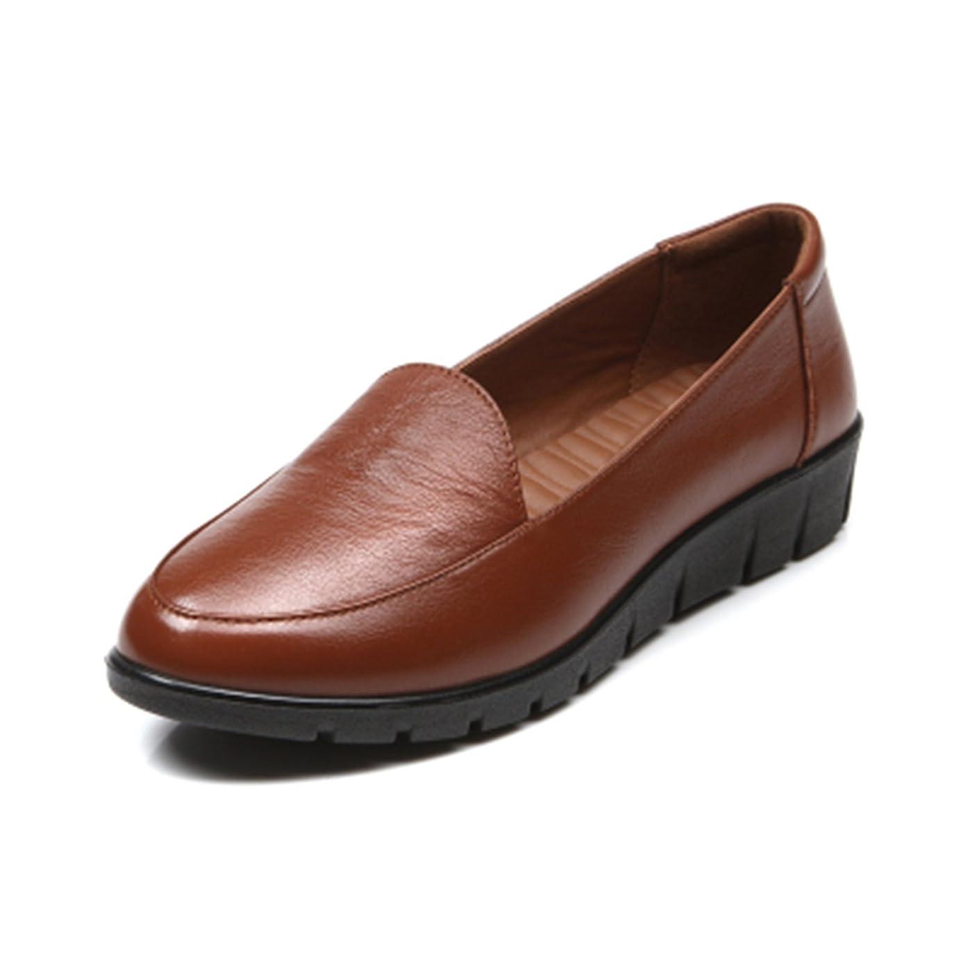 記事密接にリフレッシュ高級 本革靴 レディース デッキシューズ 4色 ウォーキング レザー
