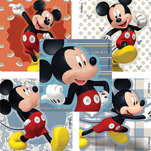 SmileMakers Mickey Mouse Favorite Poses Stickers - Prizes and Giveaways - 100 Per Pack