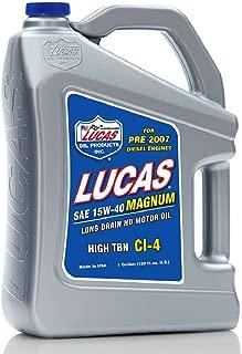Lucas Oil 10076-PK4 15W-40 Magnum High TBN Truck Oil - 1 Gallon Jug (Pack of 4)