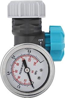 Válvula de presión de agua G3/4in Válvula reguladora de presión de agua ajustable con manómetro Controlador de riego de ja...