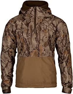 Natural Gear Cut Down Waterfowl Pullover, Camo Hunting Coat for Men with Fleece Lining, 100% Dri Stalk Material