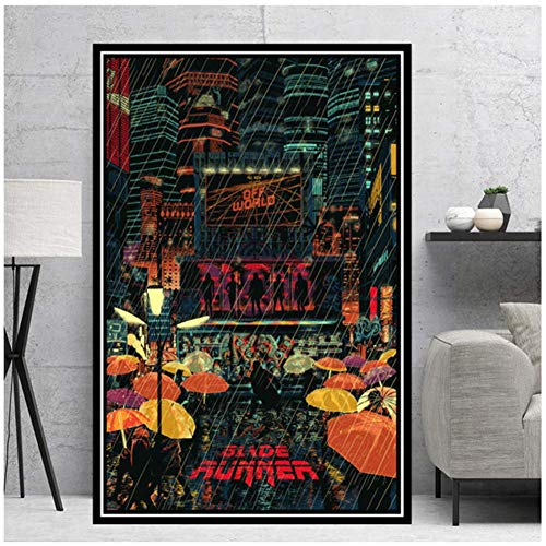 wzgsffs Poster Prints Blade Runner Movie Film Gift Modern Comic Painting Canvas Art Wall Pictures Living Room Home Decor -60x80cm No Frame