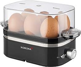 Korona 25306 eierkoker   1 tot 6 eieren   400 Watt max.   regelbare hardheid   maatbeker met eierprikker inbegrepen