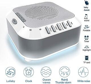 Máquina de ruido blanco, 5 terapia de sonidos naturales relajantes con tragamonedas y sueño ligero