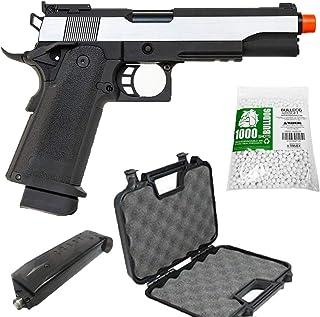 HI-CAPA 5.1 Green Gas Airsoft Pistol Dual Color Free Speed Loader BBS and Gun Case [Airsoft Blowback]