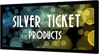 """STR-235138-WAB Silver Ticket 2.35:1 4K Ultra HD Ready Cinema Format (6 Piece Fixed Frame) Projector Screen (2.35:1, 138"""", Woven Acoustic Material)"""