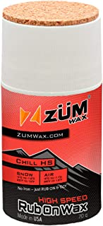 ZUMWax HIGH Speed Racing RUB ON Wax Ski/Snowboard/Nordic/Cross-Country – CHILL Temperature - 70 Gram - Super-Fast!!! Environmentally Friendly & Non-Toxic! Fully TSCA Compliant!!!