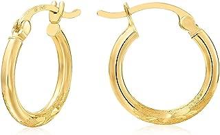 Best small hoop earrings 14k gold Reviews