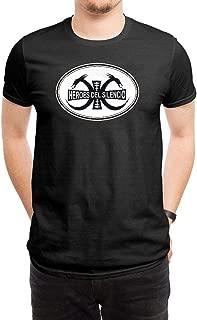 LILILOV Men's T Shirts Heroes Del Silencio Logo Black