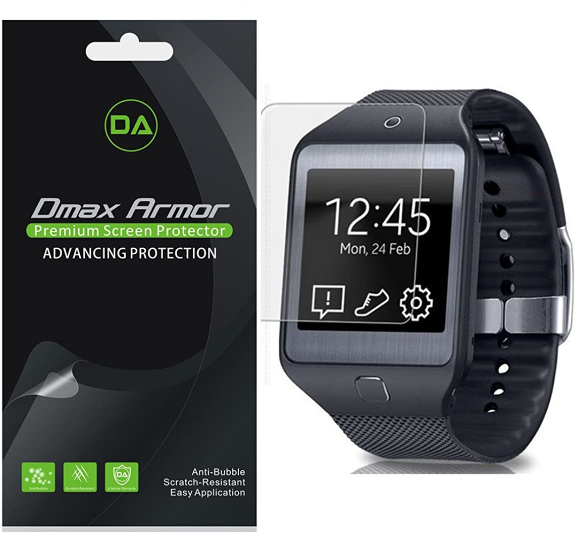 [3-Pack] Dmax Armor for Samsung Gear 2 Neo Screen Protector Anti-Bubble High Definition Clear Shield - Lifetime Replacement