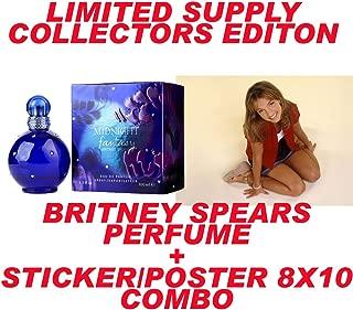 Midnight Fantasy Perfume 3.3oz 100m with Britney Spears Sexy Sticker 8