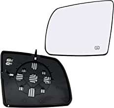 New Replacement Driver Side Mirror Heated Glass W Backing Compatible With 2008-2017 Toyota Sequoia 2007-2019 Tundra Sold By Rugged TUFF