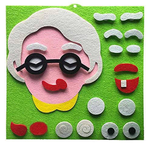 AJH Blokken Kinderen Emoticon Puzzel Speelgoed Niet-geweven materiaal Speelgoed Familie-uitdrukkingen Puzzel Ulti-kleur Optioneel Bouwstenen Set