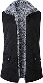 Howely Womens Lightweight Quilted Basic Padded Stand Neck Vest Jacket