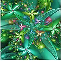 大人のための300ピースのジグソーパズル緑の葉と花パズル子供のためのブレインチャレンジパズル-不可能なパズル