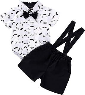 Shorts Salopette Oyedens Ensemble Bebe Garcon Ete Chic 1 /à 3 Ans Vetement Gar/çon Naissance Gentleman Manteau Chemisier Gar/çon Casual Haut Sport Chemise /à Manches Courtes T-Shirt