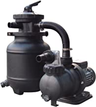 FlowXtreme 10-in, 25lb Sand Filter Pump System for Above Ground Pools with Multiport Valve, 1/3 HP, 1,850 Gallons/Hr, 115V