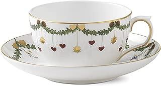 Royal Copenhagen Star Fluted Christmas Tea Cup and saucer 32 cl