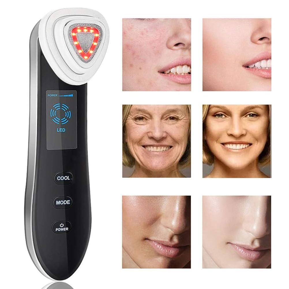 ローズ光景ロック解除顔の解毒孔をホワイトニングRF美容機器多機能ホット&コールド導入と輸出顔の色の光の皮膚