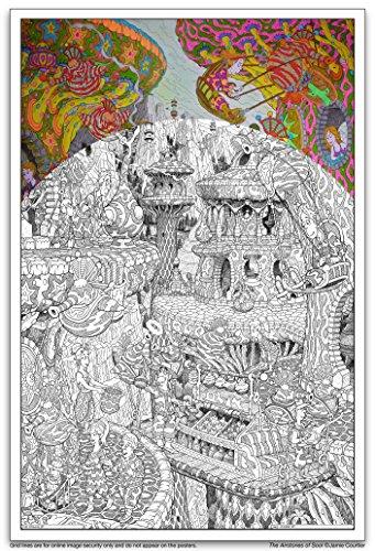 Wildergorn ¡¡Nuevo Posters de Jamie Courtier - Las Piedras Aéreas de Sool - Poster para Colorear Gigante: 68cm x 100cm!