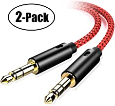 oldboytech AUX Cable, [2-Pack,4ft,Hi-Fi Sound Quality] 3.5mm Auxiliary Audio Cable Nylon Braided AUX Cord for Car/Home Stereos,Speaker,iPhone iPod iPad,Headphones,Sony Beats,Echo Dot & More